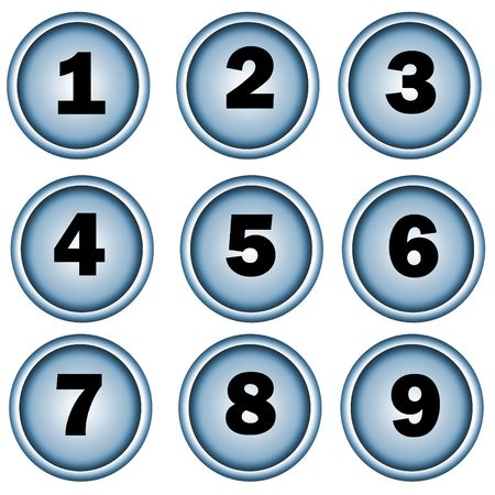 webmaster website: Number button , icons for pc