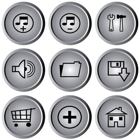 maximize: web button Stock Photo
