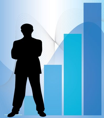 Graph of success Stock Photo