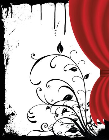 curtain in grunge photo