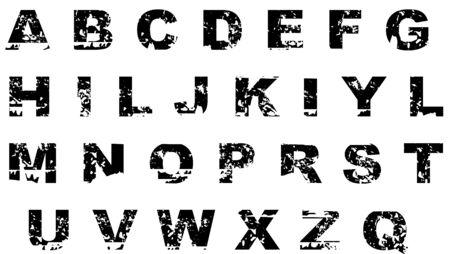 grunge letter photo