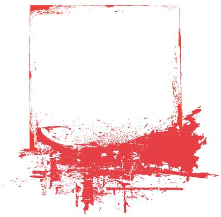 Splat overlay ed with text space in red Stock Photo