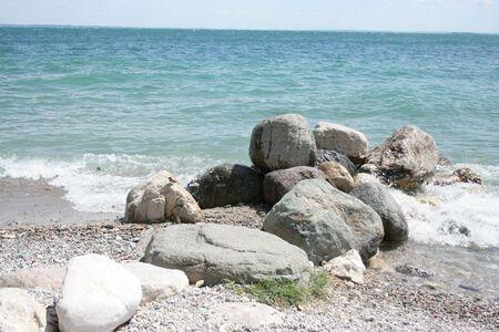 beauty beach with rock