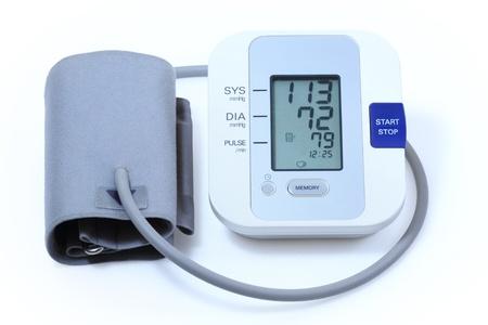 hipertension: Moderna electr�nica de sangre equipos a presi�n Foto de archivo