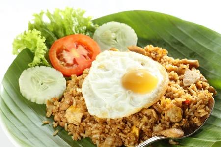 platanos fritos: Nasi Goreng, arroz frito de Indonesia