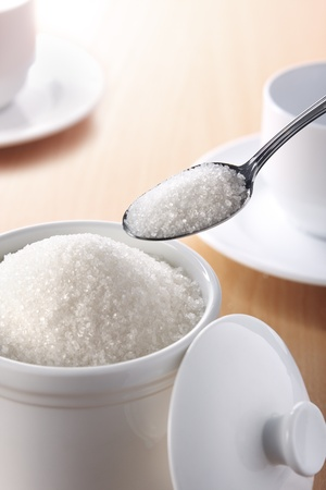 A teaspoonful of sugar for your coffee or tea Stock Photo