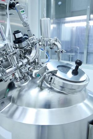 의약품 제조 시설의 기술 장비 스톡 콘텐츠