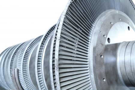 turbina de vapor: Potencia de la turbina del generador Foto de archivo
