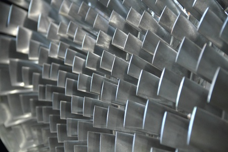 turbina de vapor: álabe de turbina textura de fondo