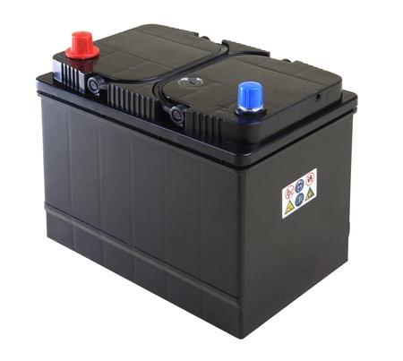 Generic black car battery isolated on white Zdjęcie Seryjne - 12544651