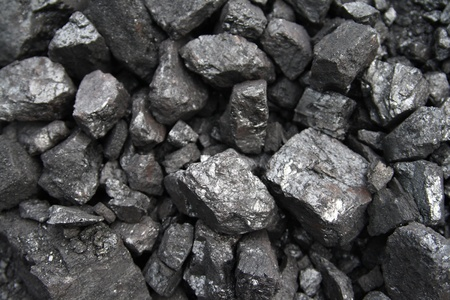 close up of black and shiny coal
