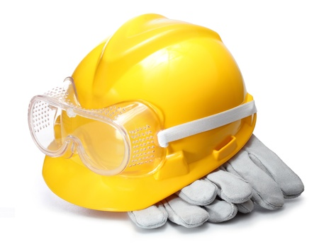 standards: Standard construction safety equipment Stock Photo