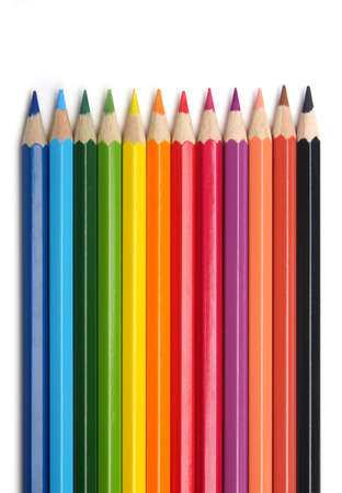 Colored pencils, isolated on the white background Stock Photo - 12851039