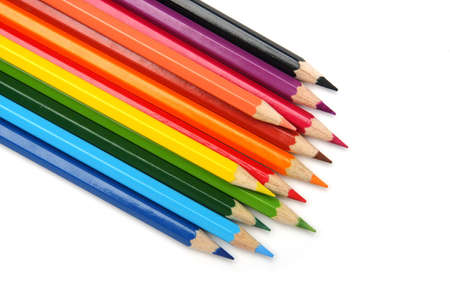 Colored pencils, isolated on the white background Stock Photo - 12851035