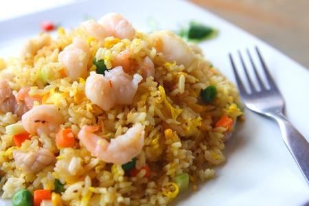 prawn: Asia el arroz frito Foto de archivo