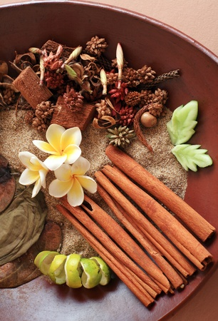 Natural herbal ingredient prepared for the ultimate aromatherapy and spa sessions