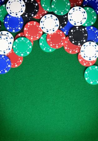Casino gambling chips background Stock Photo - 13403997