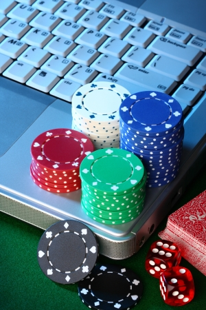 Online internet poker concept Stock Photo - 13748863