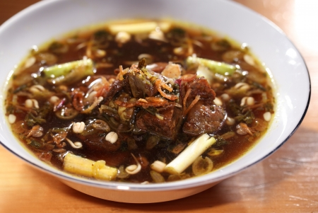 Rawon, Indonesian Beef stewed Stock Photo