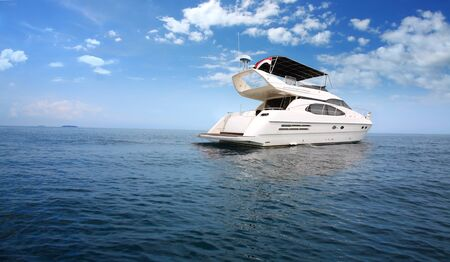 Luxury boat in the middle of the ocean Stock Photo - 14759967