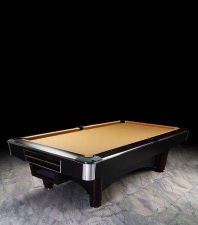 pool table: A luxury billiard table on granite floor