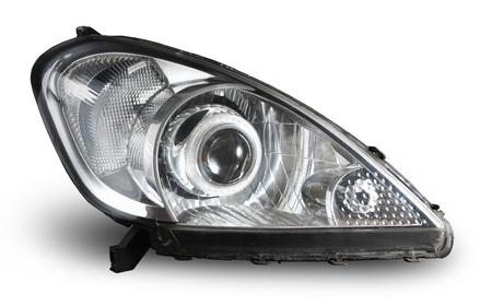 xenon projector headlight isolated on white Stock Photo - 15643668