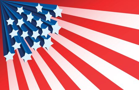 American flag starburst background Illustration