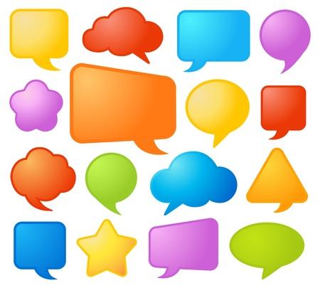 bubble speech: Speech bubbles set