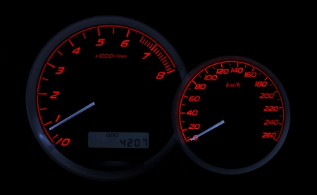 dashboard of a sports car Stock Photo - 15884405