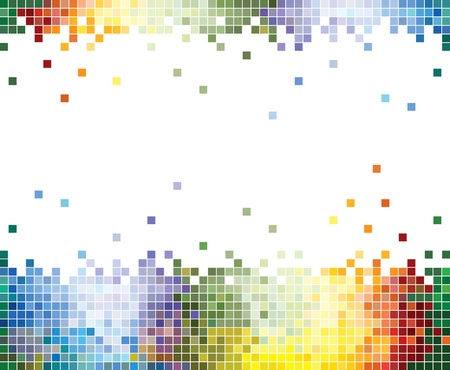 pixelation: Colorful Pixelated background in vector format Illustration