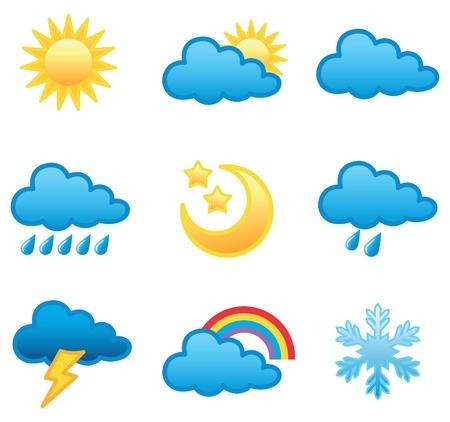 天気予報のアイコン イラスト ベクター形式で