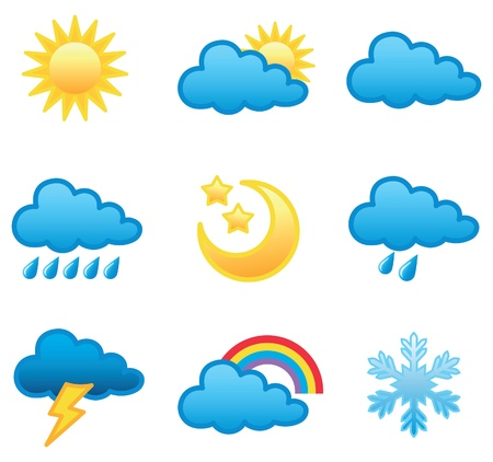 storm rain: Weather forecast icon illustration in vector format Illustration