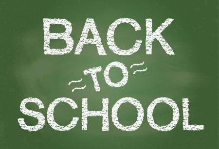 Back To School written on blackboard vector format