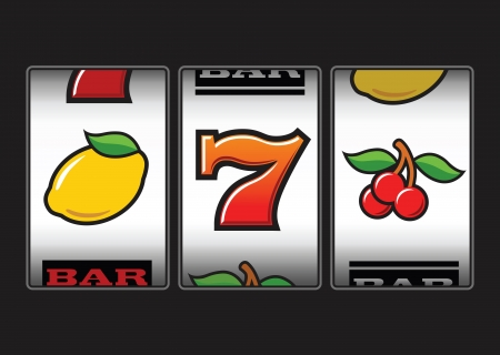 lucky: Slot Machine symbols  illustration Illustration