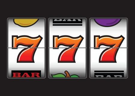 jackpot: Sevens triple vainqueur de machine � sous Illustration
