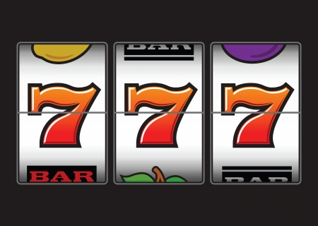 jackpot: Winner triple sevens at slot machine