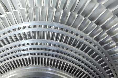 steam turbine: Close up of internal rotor of a steam Turbine