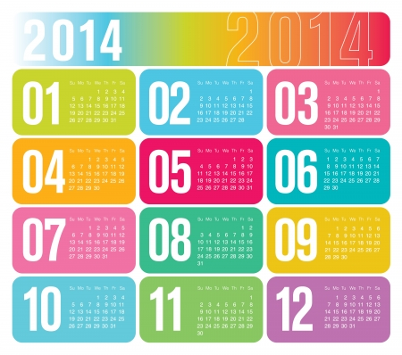 yearly: 2014 Calendario anual