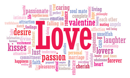 proposed: Love word cloud illustration in vector format