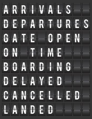 flight board: Flight board information display vector illustration Illustration