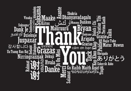 thankful: Gracias nube de la palabra en formato vectorial