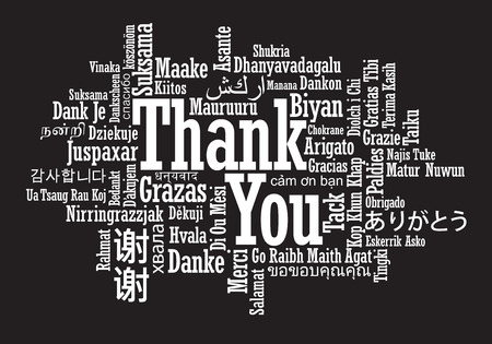 english: Thank You Word Cloud in vector format