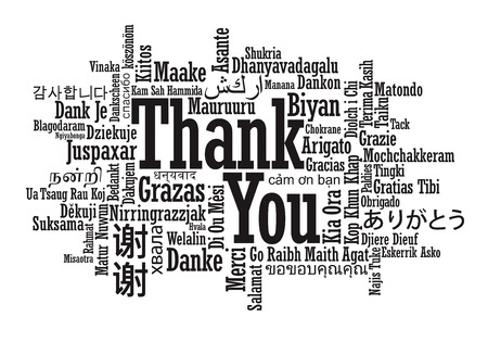 Thank You Word Cloud in vector format