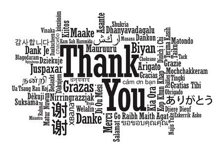 dank u: Dank u Word Wolk in vector-formaat