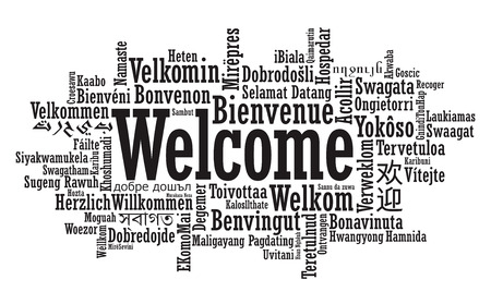 Welcome Tag Cloud in vector format Stock Vector - 26382754