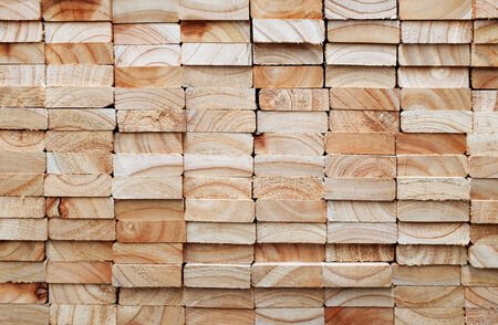 Stack of square wood planks building materials Zdjęcie Seryjne
