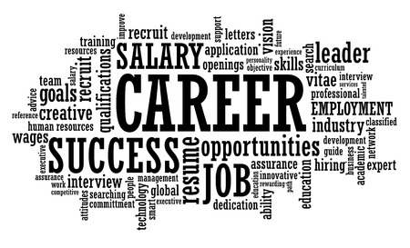opportunity: job career opportunity openings word cloud illustration