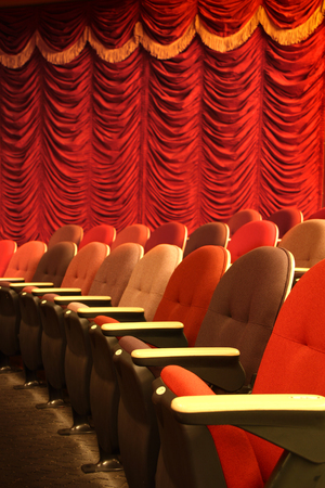 Row of seats in a theater Stock Photo