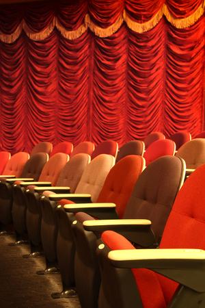 Row of seats in a theater Zdjęcie Seryjne