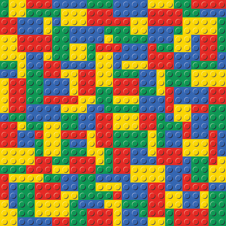 Lego Brick Seamless Background Pattern